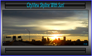 CityView Skyline With Sun by Taures-15