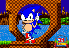 Sonic the Hedgehog 21st Anniversary pic by Johnny-HedgeWolf