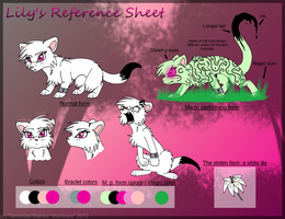Lily's Reference Sheet by InuHoshi