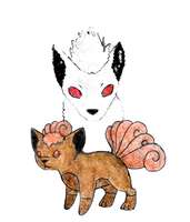 Vulpix and Ninetales by RunningSpud