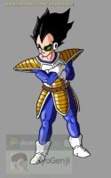 Vegeta saiyan saga 2 (color) by RyoGenji