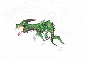 Dragon in green-Unfinished by Eppon