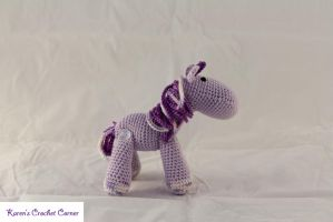 Lavender and Purple Amigurumi Unicorn by karenscrochetcorner