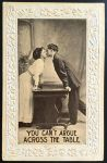 Early 1900s Romance Postcard - Kissing Couple by KarRedRoses