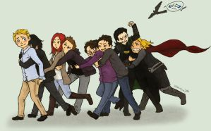 The assemble Reunion love by yuminica