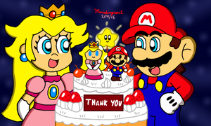 Mario and Peach's Special Cake by MarioSimpson1