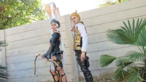 Balthier and Fran 02 by drkitsune