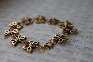 Golden Butterfly Charm Bracelet by Clerdy
