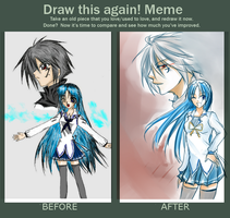 [MEME]DRAW THIS AGAIN MEME by KuroBaka22