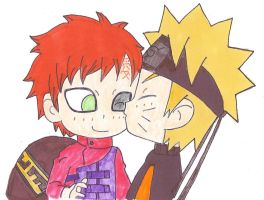 Sweet kiss NaruGaa by papalotl25