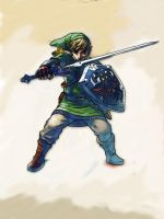 Skyward Sword Link by thebrilliant