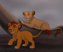 Young Mufasa And Sarabi by Miss-Melis