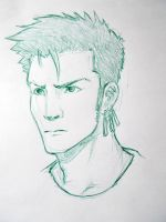 zoro sketch :D by chopperhat