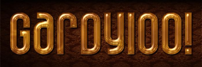 Gold Typography by VictorGuillermoArt