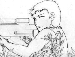 young sniper by hashhaha