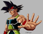 Bardock with line shading by gokujr96