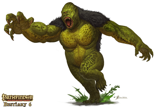 Pathfinder-Bestiary 6 Mapinguari by Davesrightmind