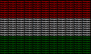 Hungary name flag by ABtheButterfly