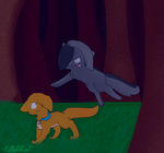 Rusty vs graypaw by Lillytehcat