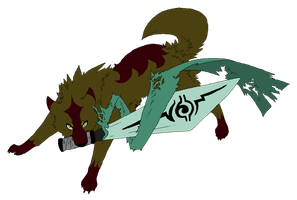 Sword wolf adoptable Closed by Lizzara