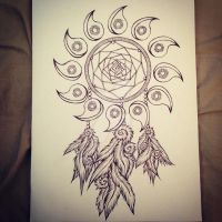 Okami Tattoo Dreamcatcher Commission by Ryuu-sai