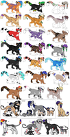 36 Adoptables by Kainaa