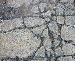 Cracked Pavement I by Delia-Stock