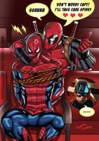 Deadpool and Spiderman by DyanaWang