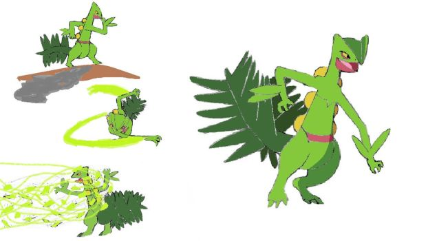 Xavier the Sceptile by Pingpongalong