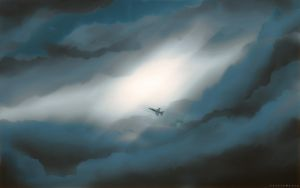 Jet Among the Clouds by LucasJMoore