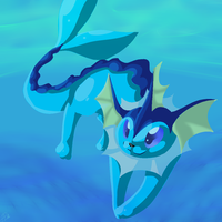 Vaporeon by Pweety-Kitty