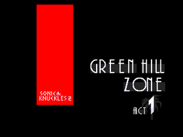 SK2 - Green Hill Zone Act 1 titlecard by OMGWEEGEE2
