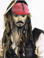 Captain Jack Sparrow by emiely