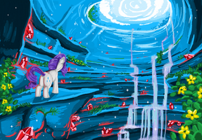 Rarity's Cave in MS Paint by mlpdarksparx