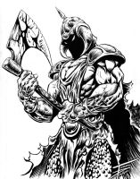 DeathDealer Black and White by TommyPhillips