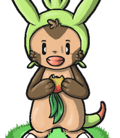 Chespin nom animation by Rattus-Shannica