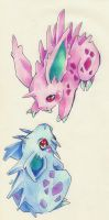 Nidoran by Yumchaa