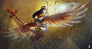 SMITE - Request - Isis Magical Madness by TheYaminoTenshiFox