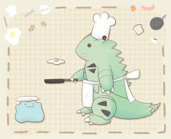 AT: Cooking Tyranitar by oi-m