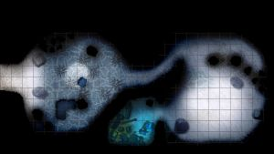 Snow dragon cave obstacles - RPG map by tomasreichmann