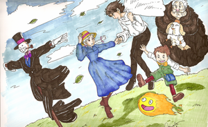 howl's moving castle casts by mikanSuki
