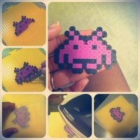 Space Invader: Perler Beads by sweetkristina07