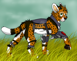 Armored Serval by Firewolf-Anime