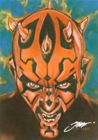 Darth Maul#2/ Star Wars Sketchcard Topps by SteveStanleyArt