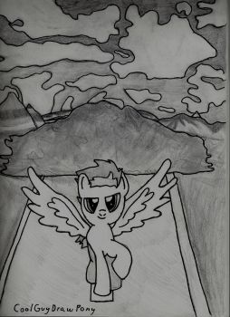 Cool pegasus dont look the explosion by CoolGuyDrawPony
