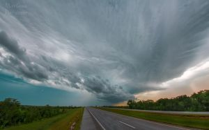 The Newcastle Oklahoma Shelf Cloud by MattGranzPhotography