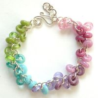 Colorful Lampwork Bracelet by sarahhornik
