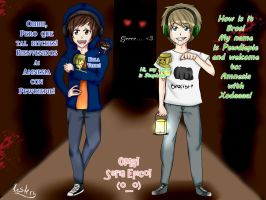 Remake Drawing Pewdiepie and Xodaaaa! by Nyan-Cherry