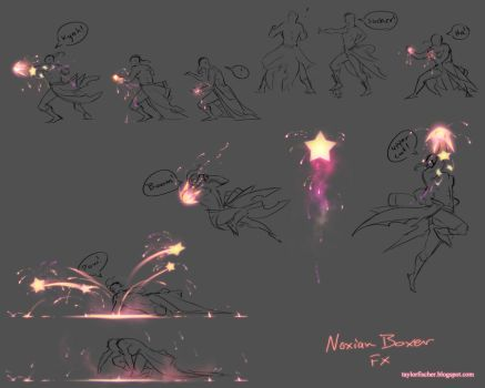 Noxian Boxer FX sheet and animations by Beastysakura