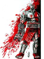 sketch 24 Kill Bill Kratos by chachaman